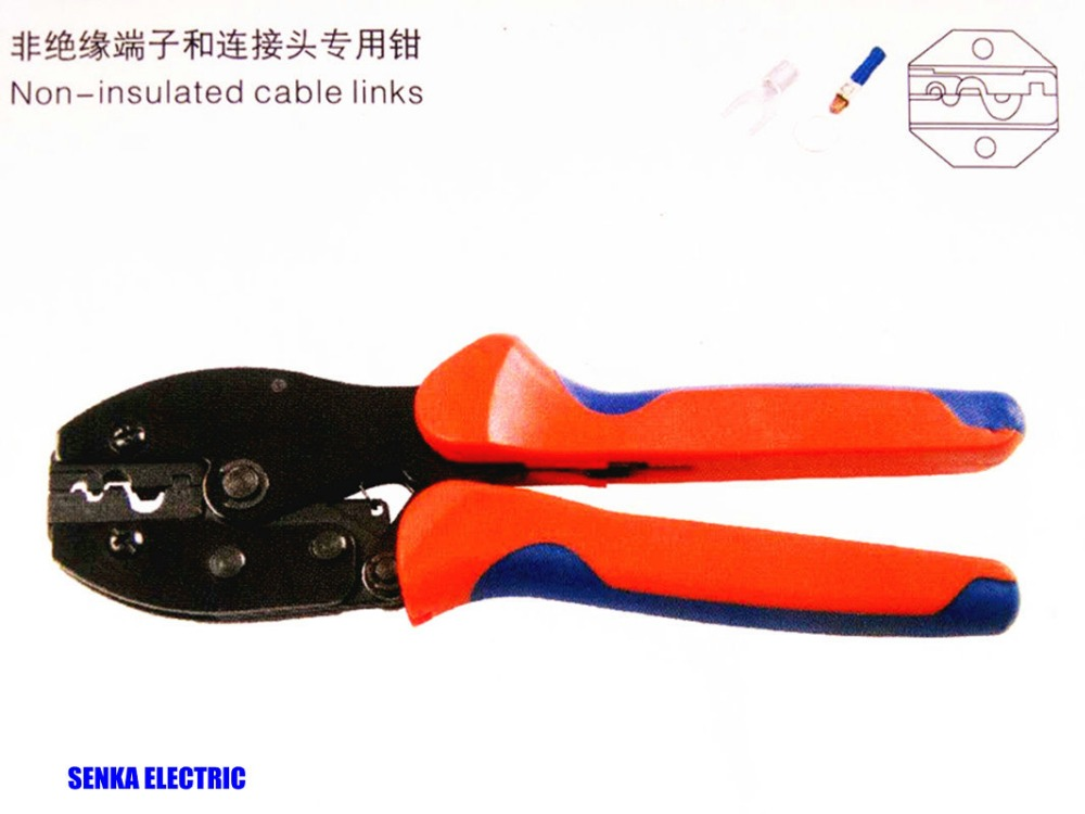 Cable lug crimper LY-101 0.5-10mm2 16-8AWG crimping tools for non-insulated terminals 1000pcs rnb2 8 awg 16 14 wire connector non insulated terminals cable lug