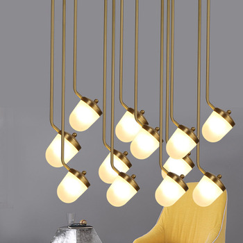 Nordic Post Modern Small Chandelier Warm Bedroom Bedside Lamp Study Restaurant Acrylic Round Lamps Lanterns LED Pendant Lamp