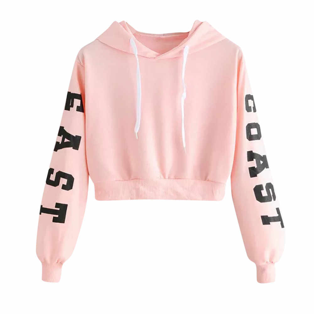 856060308 #4 DROPSHIP 2018 NEW HOT Fashion Womens Letters Long Sleeve Hoodie  Sweatshirt Pullover Tops Blouse