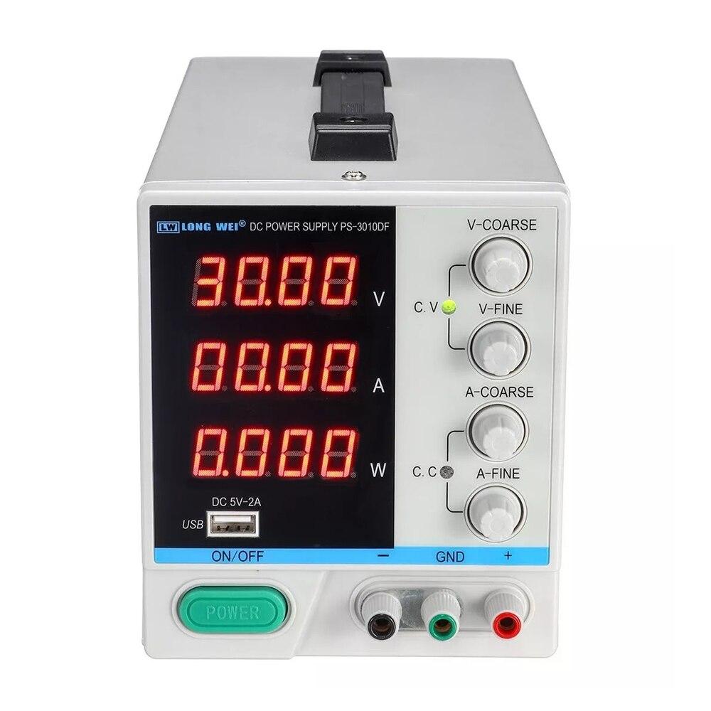 Nouveau PS-3010DF 4 chiffres affichage 30V 10A laboratoire DC alimentation réglable USB charge réparation commutation alimentation régulée - 2