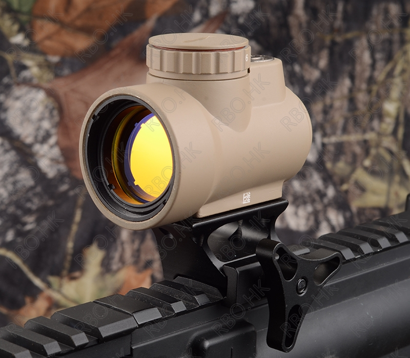Tactical Trijicon MRO Style 1x Red Dot Sight Scope And High Base Line Picatinny Mount Hunting TAN M9500