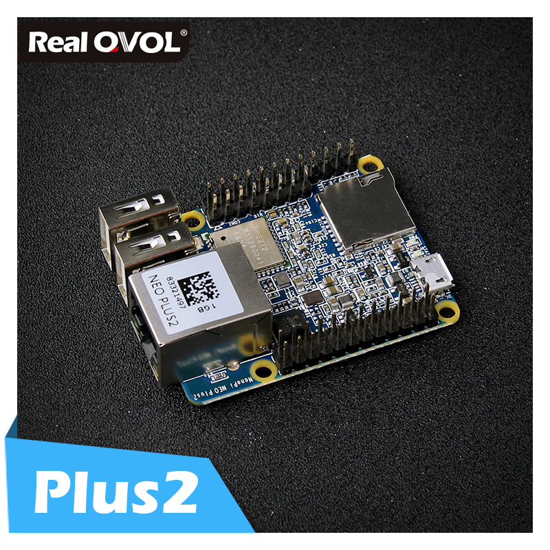 RealQvol amical nanopi-neo Plus2 1 GB DDR3 RAM 8 GB eMMC Allwinner H5 Quad-core 64 bits Cortex hautes performances A53