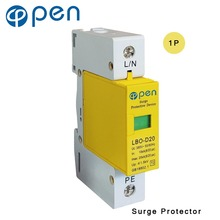 OPEN LBO-D20 Series Household SPD Surge Protector 1P 10kA 20kA 380VAC Low Voltage Arrester Device