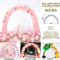 4M Large Balloon Arch Stand Base Pot Kit Clip Connector Adjustable Wedding Party Arches Support Display DIY Decoration Supplies