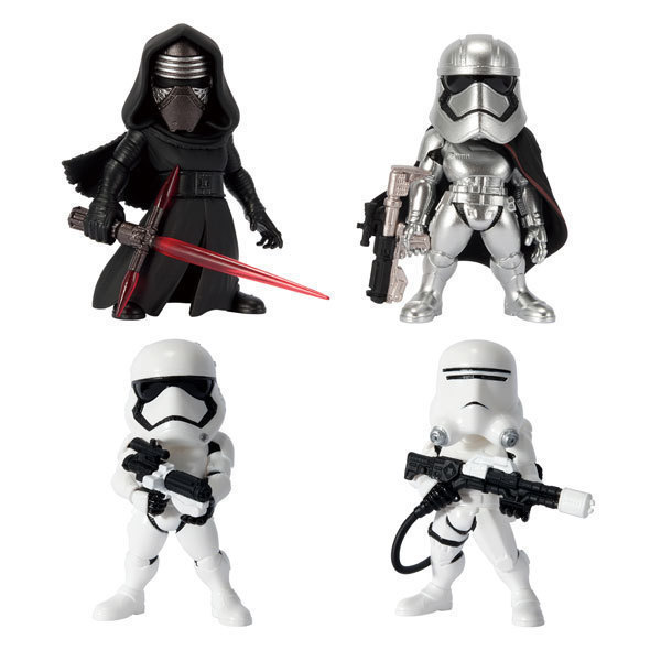4pcs/set New Jedi Killer Kylo Ren White Warrior Action Figures For DIY Animation Doll Kid Toy Miniature Model For Star