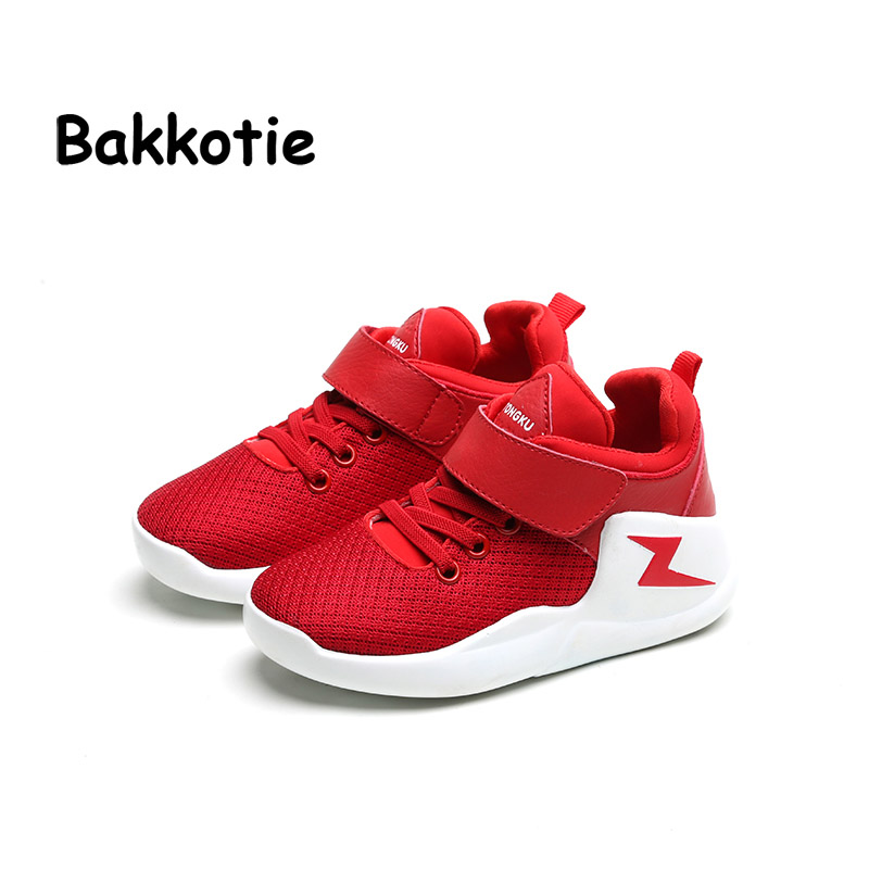 Bakkotie 2017 Spring Autumn Fashion Baby Boy Sport Shoe Mesh Leisure Kid Brand Children Sneaker Breathable Girl Casual Trainer bakkotie 2017 new autumn baby boy casual shoes khaki genuine leather black kid girl brand flat shoes soft sole breathable child