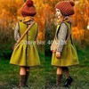 2015 Free Shipment Fashion Design Spring Woolen Girl Sleeveless Dress Woolen Vest Dress