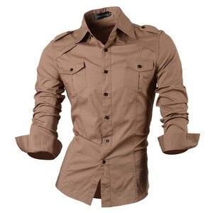 Image 5 - กางเกงยีนส์ฤดูใบไม้ผลิฤดูใบไม้ร่วงคุณสมบัติเสื้อผู้ชายกางเกงไม่เป็นทางการเสื้อใหม่มาถึงเสื้อแขนยาวสบายๆ SLIM FIT ชายเสื้อ 8001