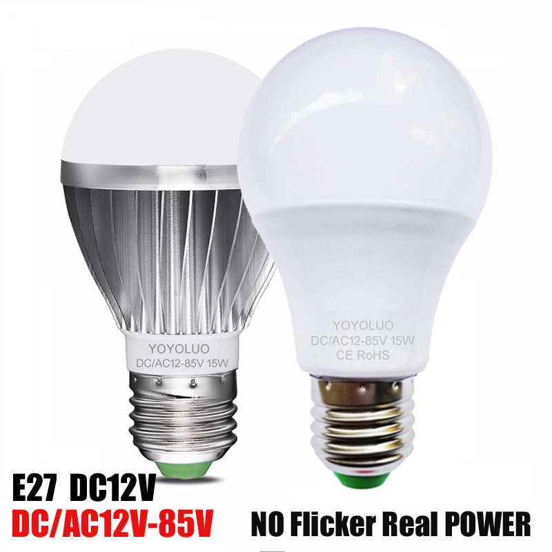 1 шт. yoyoluo светодиодный лампы E27 переменного тока 12 V 24 V 36 V светодиодный светильник 3 Вт, 6 Вт, 9 Вт, 12 Вт, 15 Вт Светодиодный лампочки Энергосберегающая лампада для наружного освещения