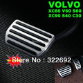 Top Quality OEM Aluminum Alloy Rubber Gas & Brake Pedal  For VOLVO XC60 V60 S60 XC90 S40 C30 - free shipping