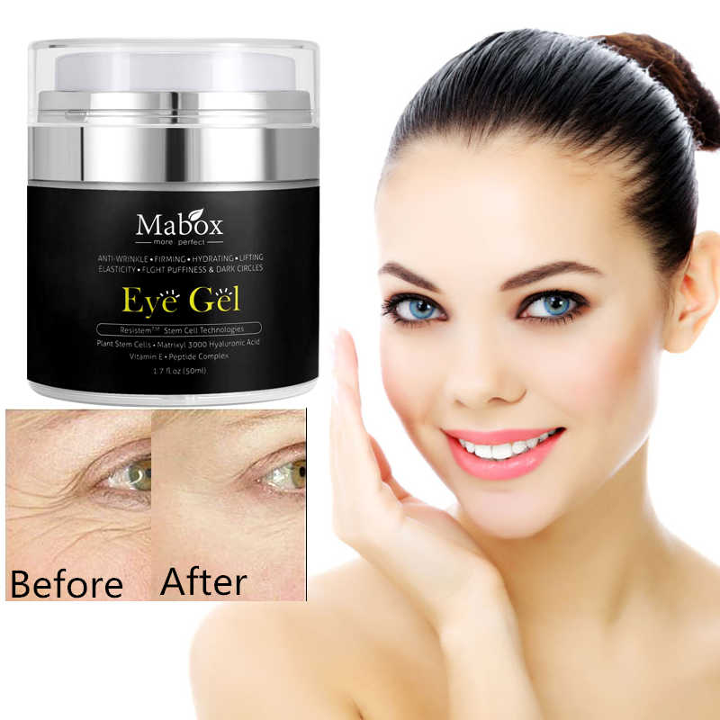 MABOX Direct 50ML Hyaluronzuur Eye Gel Anti-Rimpel Remover Donkere Cirkel Oogcrème Tegen Wallen Anti Aging drop schip