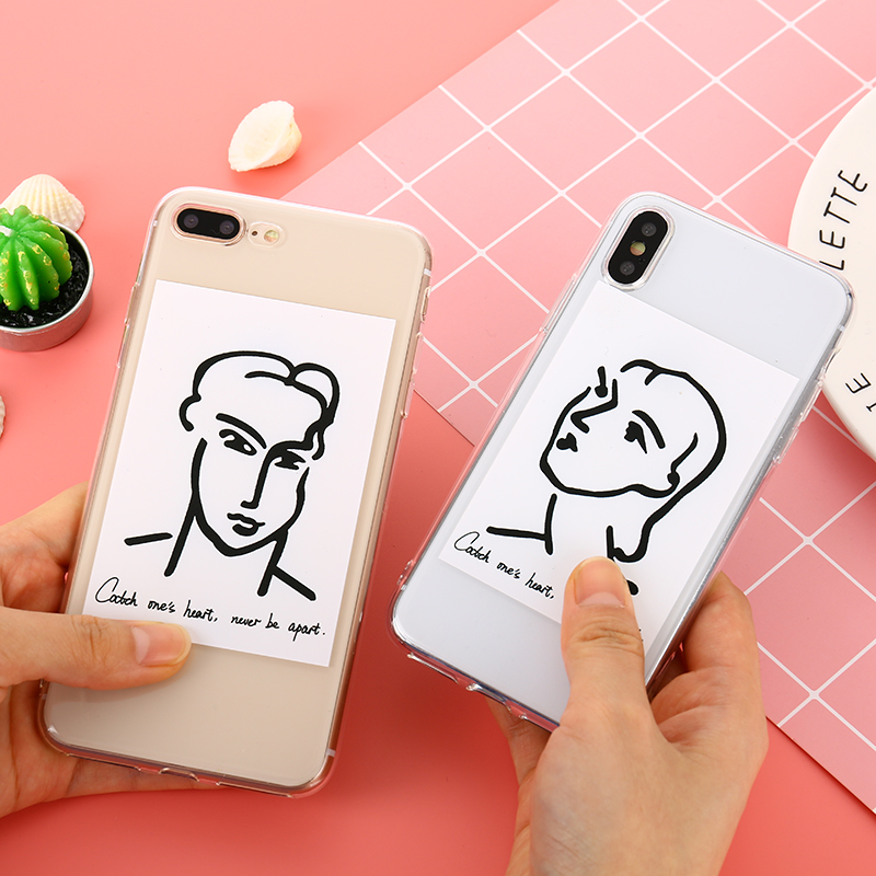 Ultra Thin Soft TPU Transparent Case For iPhone 7 Plus 8 X 6 Plus 6s Character Cartoon Silicone Cover For iPhone 8 Plus 7 6 6S X