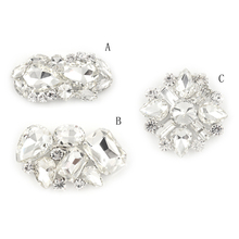 3Styles Women Rhinestone Flower Shoe Buckle Strass Crystal Decorations Clips Shoe Charms Full Crystal Shoe Clips Accessories