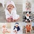 Одежда для маленьких мальчиков и девочек, халат с изображением животных, банное полотенце с капюшоном для младенцев, купальный костюм для м...