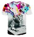 Grau de moda de nova S-XXL Pensador Abstrato t-shirt de Impressão Unisex Casuais camisa t 3d para homens/mulheres harajuku camisetas