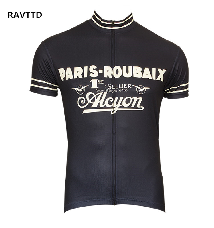 Retro Cycling Jersey Short Sleeve Bicycle Bike Clothing for Men Ropa Ciclismo Summer Cycling Wear Clothes cycling clothing summer men cycling jerseys bike clothing bicycle short ropa ciclismo breathable sportwear bike clothes page 4