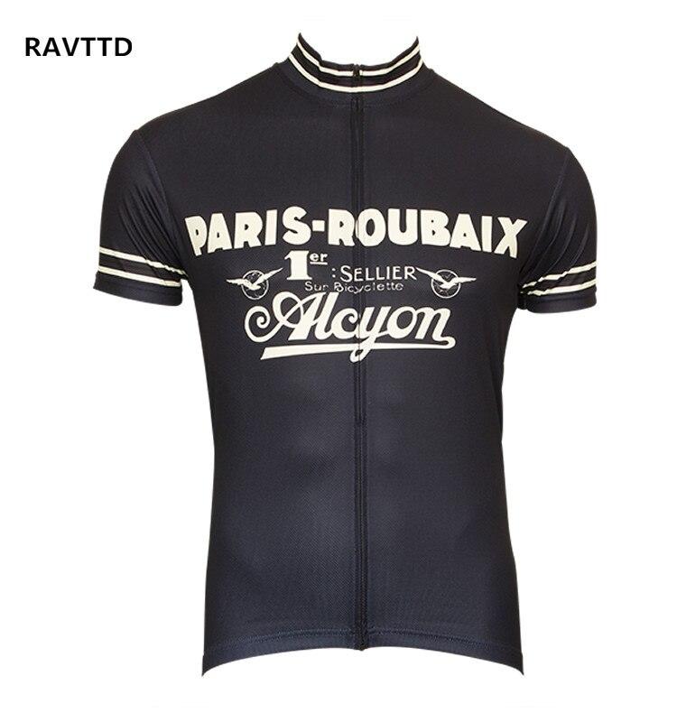Retro radfahren jersey kurzarm fahrrad clothing für männer ropa ciclismo sommer radfahren tragen kleidung