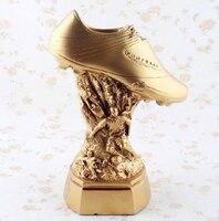 World Soccer Trophy Model Modern Resin Golden Boot Award Sculpture Sports Series Crafts Golden Sneakers Decoration