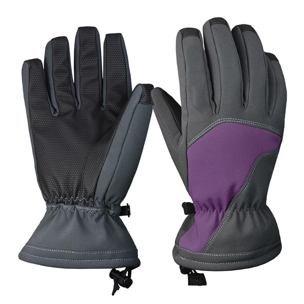 1 Paar Männer Frauen Handschuhe Weiche Sport Reiten Winter Wandern Ski Nicht-slip Warme Snowboard Winddicht Verdicken Radfahren Wasserdicht