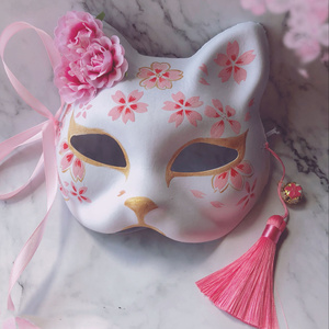 Image 5 - זנב תשעה שועל מסכת יד מצויר חתול נאצאם של חברים עיסת חצי פנים ליל כל הקדושים קוספליי בעלי החיים צעצועי מסיבת אישה