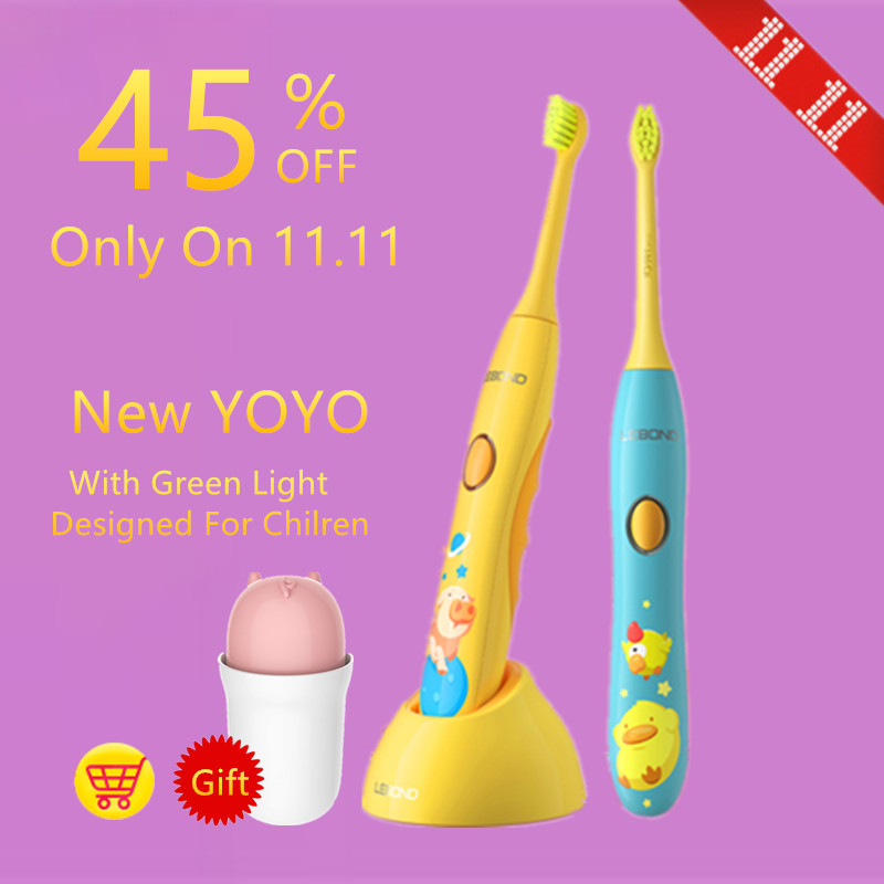 LEBOND Sonic Electric Toothbrush New YOYO With Inductive Charger And Toothbrush Mug Silicone Materials For Kids Children Ages 4+ термокружка emsa travel mug 360 мл 513351