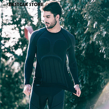 Underwear Base-Layers Long-Sleeve Ski Bicycle Sports Winter Men Cycling-Sport-Fitness-Clothing