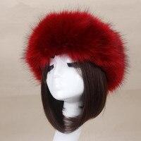 Moda Zima Faux Fox Futerka Kapelusz Męski Czapka Mężczyzna Kobiet Miękkie Ski Stroik HOT Sprzedaży
