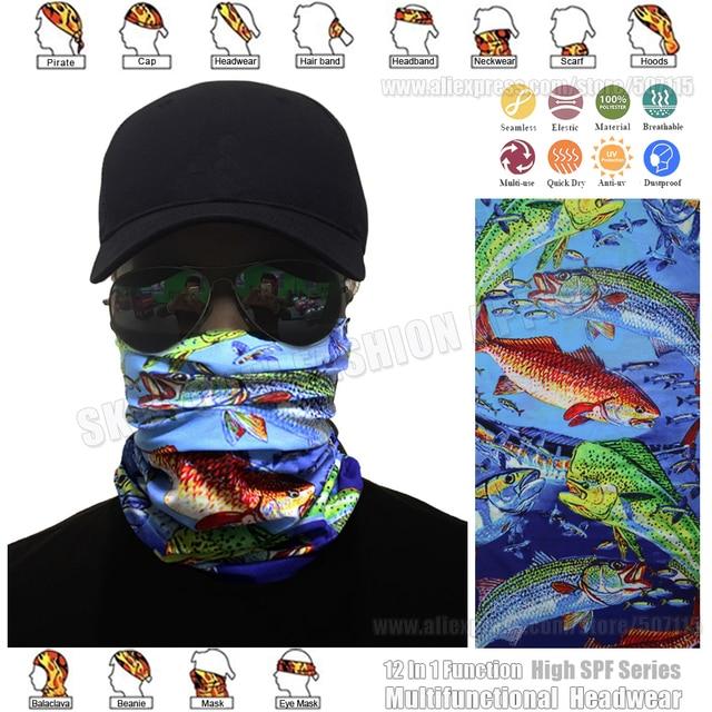 De alta Qualidade Ao Ar Livre Pesca Balaclava Máscara Facial Magia Cachecol  Perfeita Headwear Sol Proteção be36a020896d