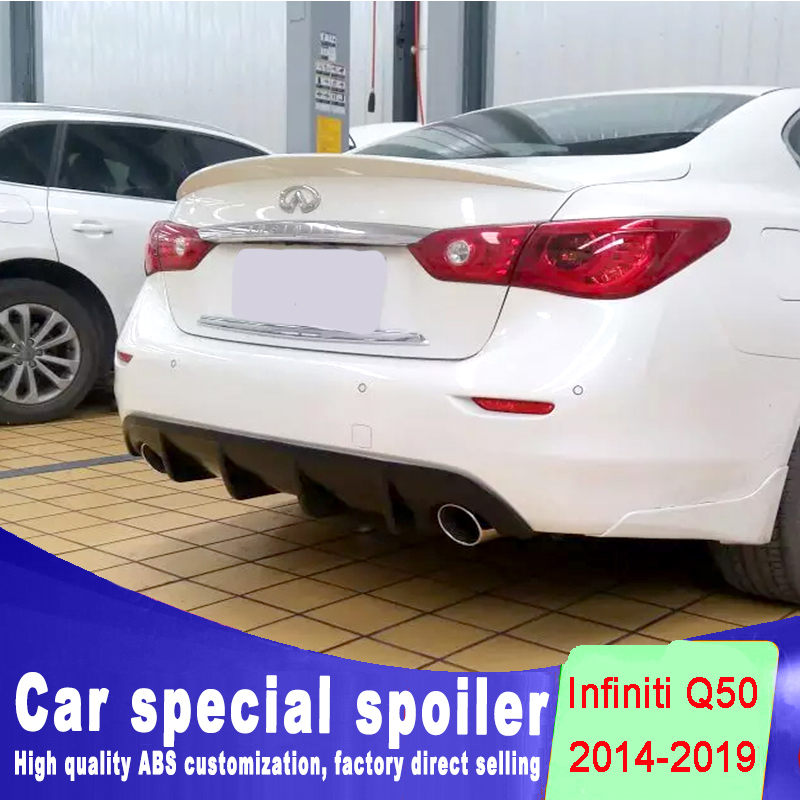 new design for Infiniti Q50 Q50L Q50S spoiler 2014 2015 2016 2017 2018 2019  high quality ABS material by primer DIY color paint
