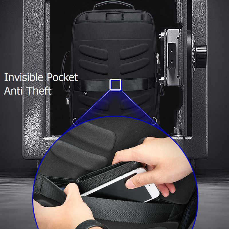 BOPAI Anti hırsızlık büyüt sırt çantası USB harici şarj 15.6 inç Laptop sırt çantası erkekler su geçirmez okul çantası çantaları genç için