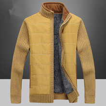 new NIANJEEP Brand Clothing Fashion Sweater Men Cardigan Winter Knitwear Thicken Warm Men's Cardigans Sweaters Plus Size
