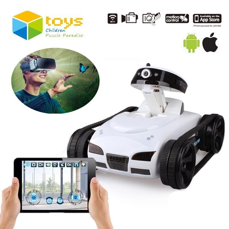 Mini Télécommande Jouets Wifi Robot Caméra RC Réservoir APP en temps Réel Contrôlée par IOS Android Smart Dispositif pour enfants Kis Cadeaux