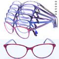 Wholesale 18993 full-rim high classic flexi spring hinge girl vintage unique leopard print acetate optical frames new arrival