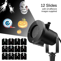12 Slides Replaceable Spotlight Lawn Lamps LED Christmas Projector Laser Outdoor Waterproof Party New Year Decorate