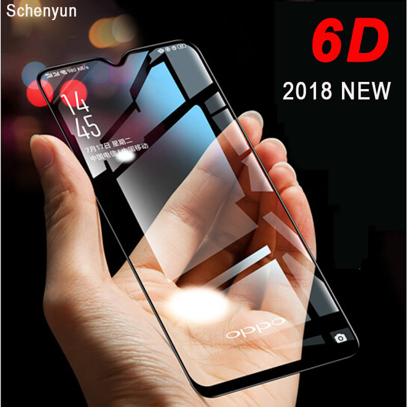 Tempered Glass For OPPO R17 F9 pro Rx17 New 6D Screen Protector HD Full Cover edge Protective glass For oppo For F7 A3s R11 A5