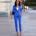 Women's Business Suits Formal Office pant Suits female Work wear 2 Piece Sets One Button Uniform Designs Blazer Suit Jacket Set