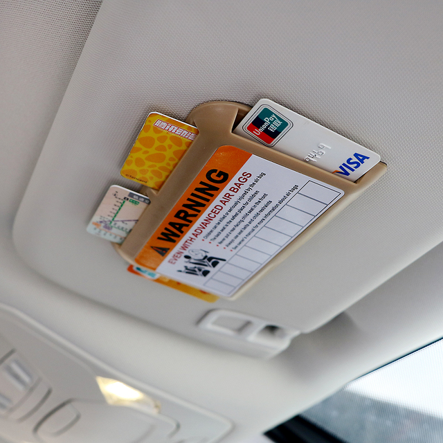 Temporary Parking Phone Number Car Visor Clip Organizer Universal High-speed IC Card Clip Car Parking Card Holder