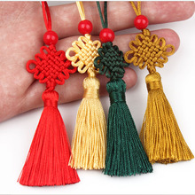 100 pcs Chinese Knot Arts and Crafts Style Gifts Characteristics Gift DIY Fabric Tassel Fringe New Year Presents