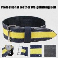 Professional Leather Weightlifting Belt Men Women Sport Safety Weight Lifting Belt Exercise Weight Loss Shaper Gym Fitness Belt