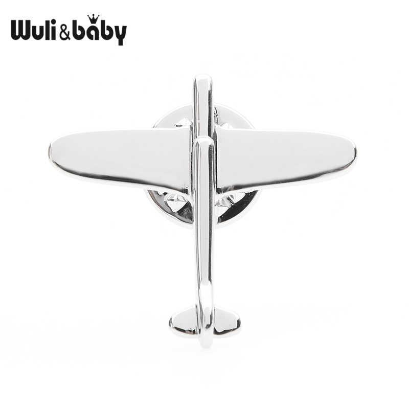 Wuli & bebê avião colar pinos feminino masculino requintado aeronaves broche pinos presentes