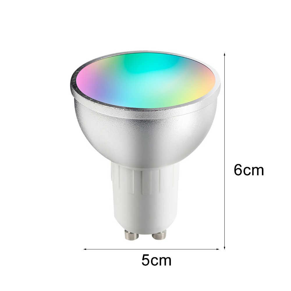 Светодиодный энергосберегающая лампа смарт-лампы Alexa RGBW Беспроводной Wi-Fi пульт для Управление умный свет Совместимость с Alexa Google Home GU10 5 Вт