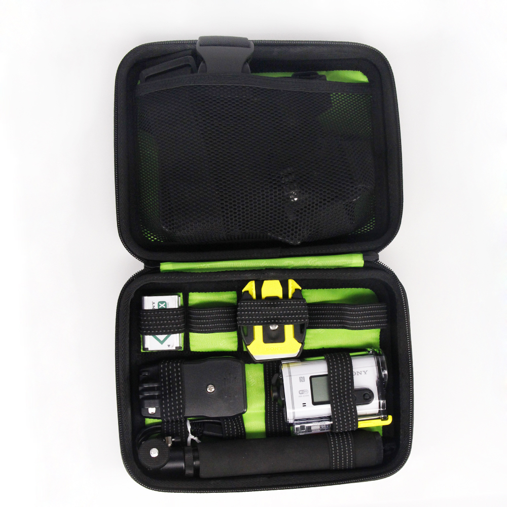 Shockproof Carrying Case bag for Sony Action Cam HDR-AS15 AS20 AS30V AS100V AS200V HDR-AZ1 Mini Sony FDR-X1000V protect bag case dz chm1 clip head mount kit for sony action camera fdr x1000v hdrr as200v hdr az1vr hdr as100v