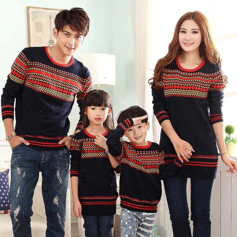 2015 Fashion 3 Pcs Family Matching Christmas Sweaters Pullovers ...