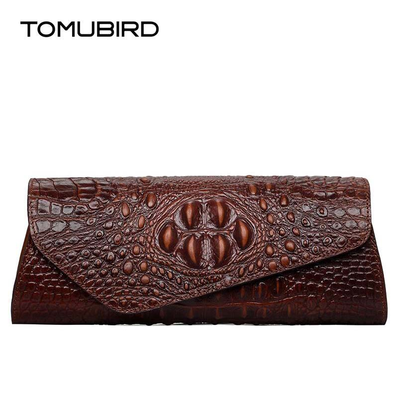 TOMUBIRD new superior leather Embossed Crocodile Evening Cluches Handbags designer bag brands women genuine leather evening bag