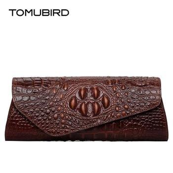 TOMUBIRD new superior leather Embossed Crocodile Evening Cluches Handbags designer bag brands women genuine leather evening bag