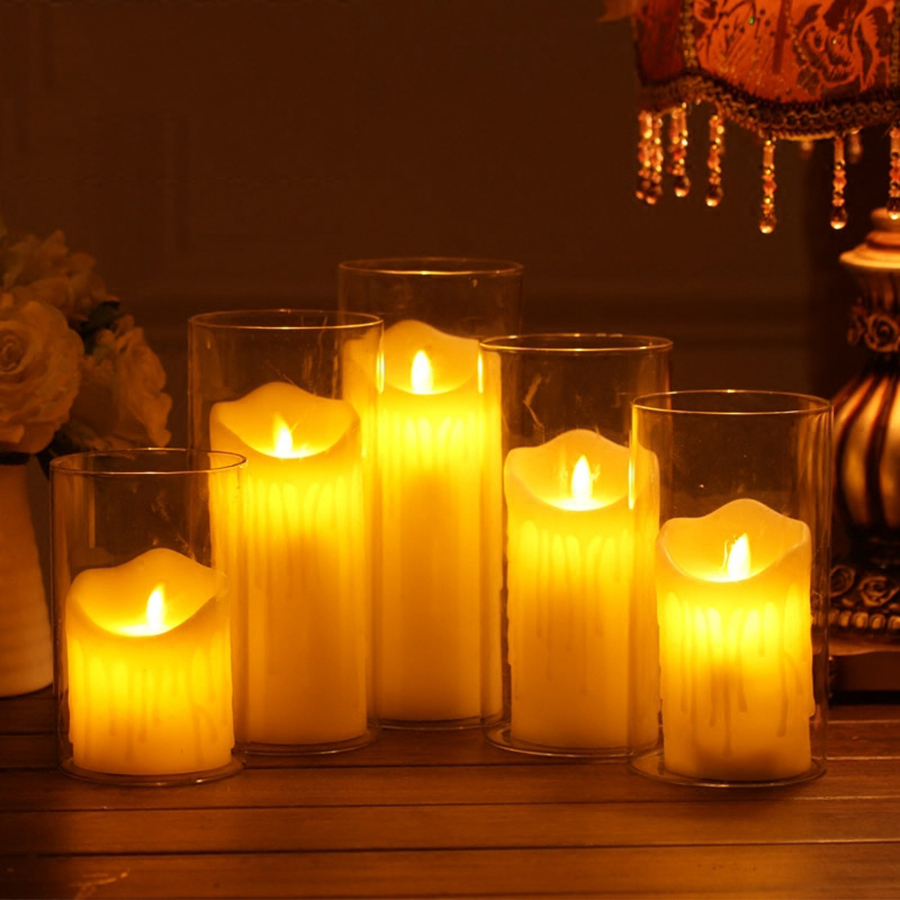 Aromatherapy Led Candles Wedding Decoration Bougies Et Chandelles Velas Flameless Making Wax Candle Scented Home Decor