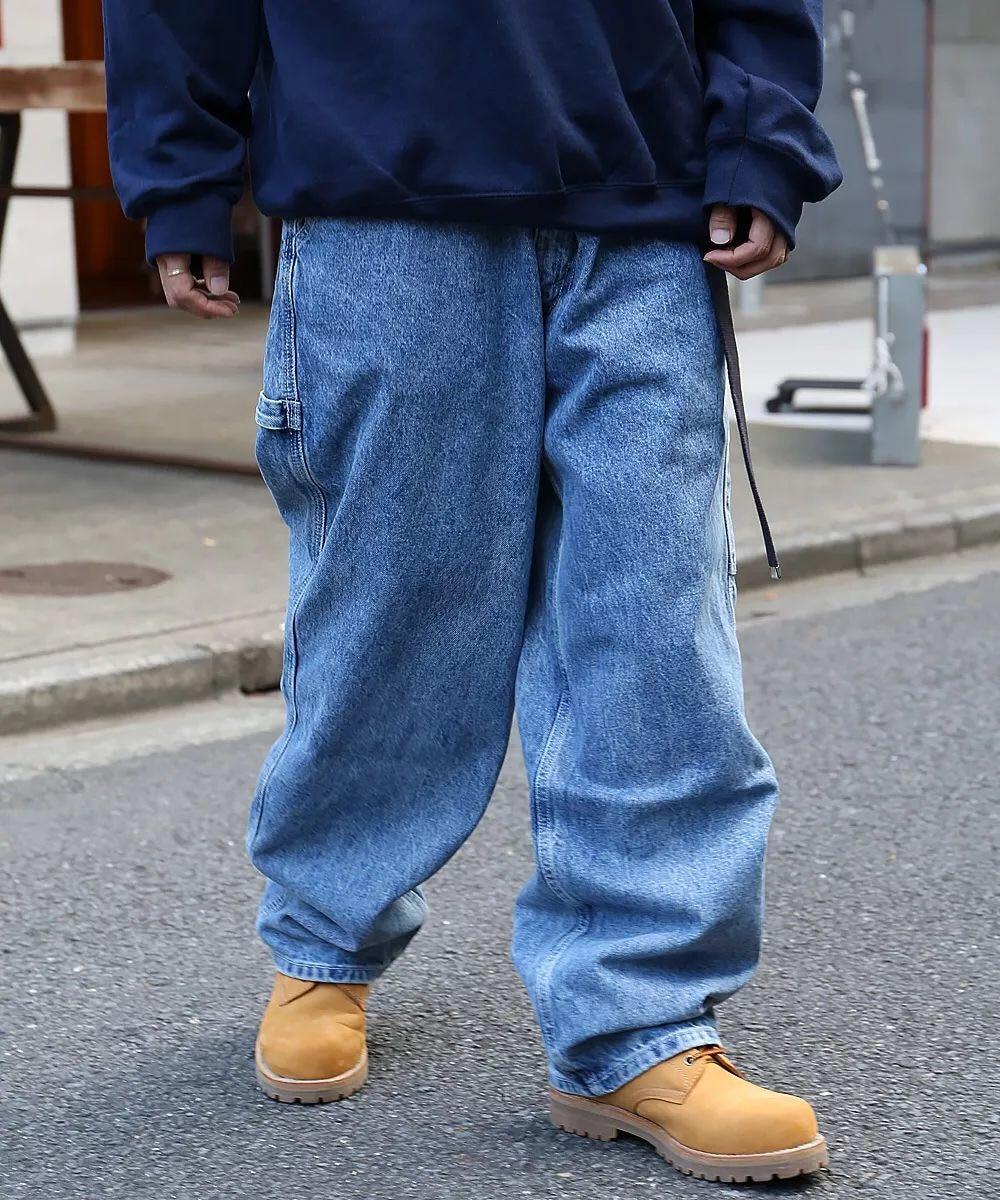 2018 Best version kanye west oversize Baggy hypertrophy men jeans Hip Hop Casual Streetwear wide leg jeans size 30. 32. 34. 36 hot new large size jeans fashion loose jeans hip hop casual jeans wide leg jeans page 3