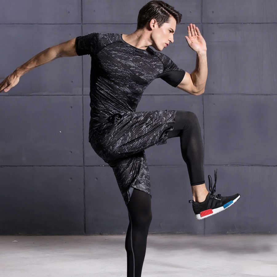 Traje deportivo para hombres entrenamiento 3 piezas unids trajes de  gimnasio para hombre fitness academia Fitness 21bdadaa7ca40