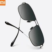 Xiaomi Mijia классические квадратные солнцезащитные очки PRO оправа из нержавеющей стали нейлоновая поляризованная линза УФ-защита от масляных пятен без винтов