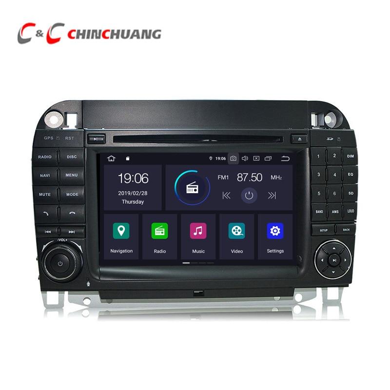 Lecteur DVD de voiture Android 9.0 pour Mercedes Benz CL classe S W215 W220 S280 S320 S350 Radio RDS GPS DVR Wifi 4G sortie Audio vidéo